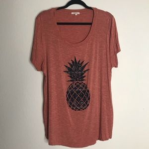 Maurices Pineapple Top Size 1 16W/18W